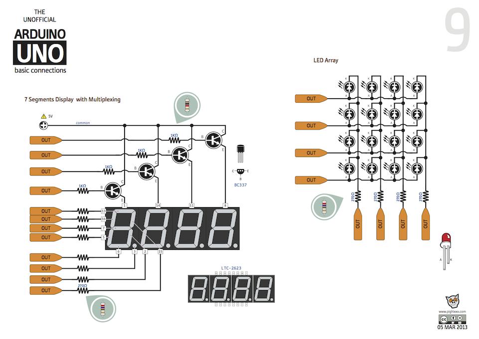 9_7segmentos_multiplexado_e_Array_de_LED
