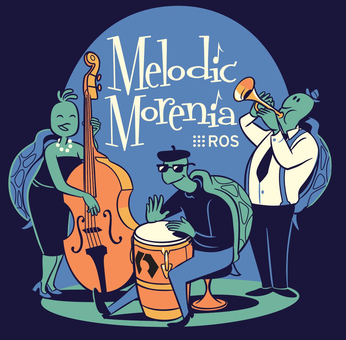 Logo ROS Melodic Morenia
